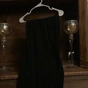 Black plus size wide leg dress pants.